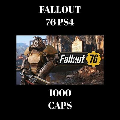 Fallout 76 caps for PS4 and XBOX one (In-game Currency) - 1000 caps total