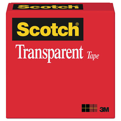 """Crystal Clear Transparent Tape 72 yds 3/"""" Core S-3274 2-3//4/"""" x 2,592/"""""""