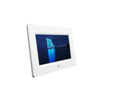 "Espositore display video LCD TFT 7"" bianco fiere ufficio supermercato mostre bar"