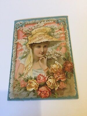 Antique Trade Card Laird's Soap Beauty
