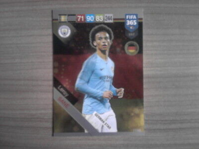 PANINI ADRENALYN XL FIFA 365 2019 TCG FANS GERMAN STAR LEROY SANE 397 Man City