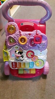 VTech Pink First Steps Baby Walker - 6 to 30 Months - with original box