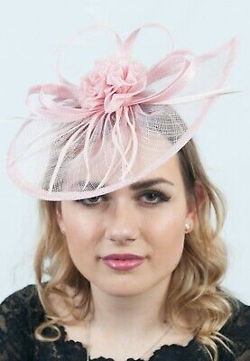 Pink Ladies Fascinator Headpiece Hats Hatinator Fascinators Ascot Sinamay RRP£65