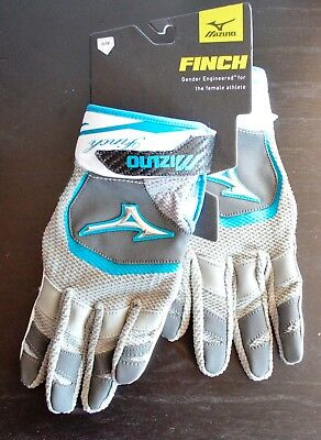 Women's Medium Mizuno Finch Softball Batting Gloves/NWT