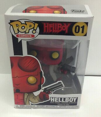 Funko Pop Comics Hellboy #01 with Jacket Vinyl Figure Non Chase - Mint in Box