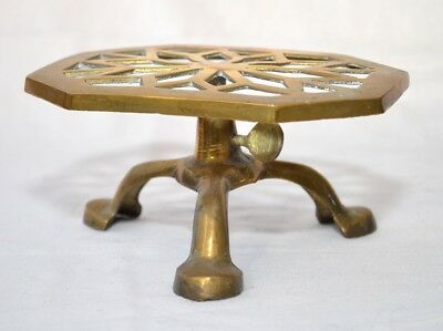 Vintage Brass Trivet/Stand (Height adjustable)