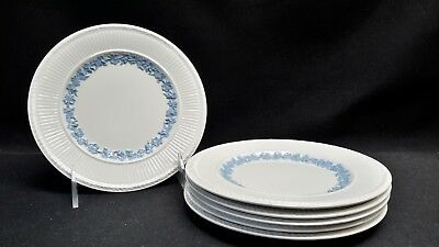 Wedgwood Queensware 2804 Edme Blue Grapes Set of 6 Bread & Butter Plate (Faults)