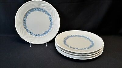 Wedgwood England Queensware 2804 Edme Blue Grapes Set of 6 Dinner Plate (Faults)