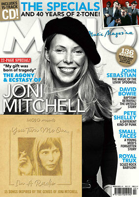 Mojo Magazine + Cd March 2019 (Joni Mitchell, Specials, Bowie, Small Faces) New