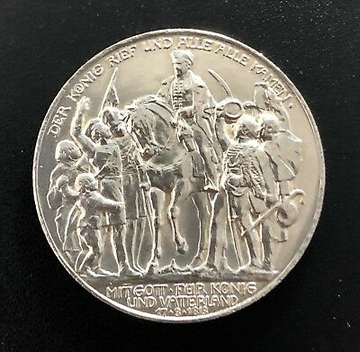 Germany Prussia 1913-A  3 Mark Defeat Of Napoleon