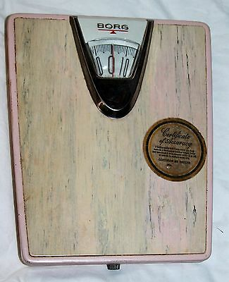 Vintage Retro 50's Borg Erickson Corp Usa Pink & Gray Chrome Bathr0Oom Scale