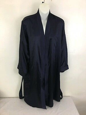 a2622ff143 MARKS AND SPENCER Satin Silky Purple Robe Dressing Gown UK 16-18 ...
