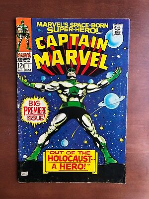Captain Marvel #1 (1968) 7.0 FN Marvel Key Issue Comic 2nd Carol Danvers App
