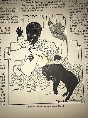 "Black Americana ""Colored Boy"" Clover 1938-39 Children's Activities Magazines"