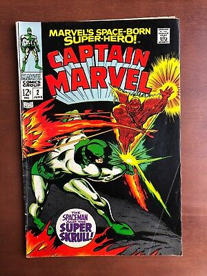 Captain Marvel #2 (1968) 7.0 FN Marvel Key Issue Comic Silver Age Super Skrull