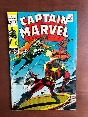 Captain Marvel #9 (1969) 5.5 VG Marvel Key Issue Comic Silver Age Carol Danvers