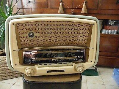 Ancien TSF Marque OCEANIC Modele PILOTE Poste Lampes 1950s RADIO 7 Touches