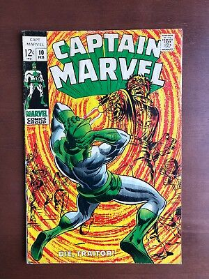 Captain Marvel #10 (1969) 7.0 FN Marvel Key Issue Comic Silver Age Carol Danvers