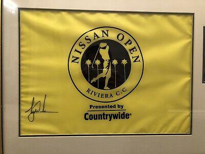 Tiger Woods Signed & Framed Nissan Open Tournament Flag