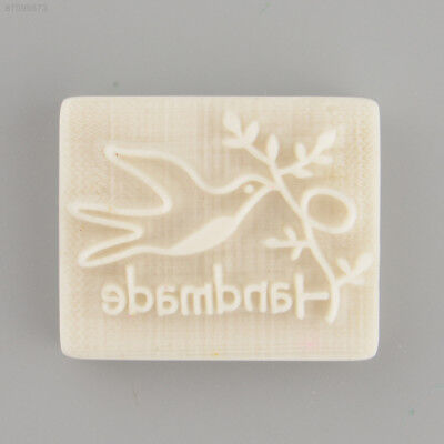 C7E4 Pigeon Desing Handmade Yellow Resin Soap Stamp Stamping Mold Craft Gift