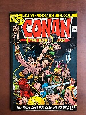 Conan The Barbarian #12 (1971) 8.0 VF Marvel Key Issue Comic Bronze Age Stan Lee