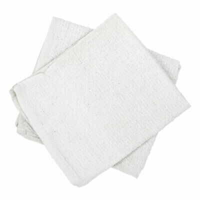 Counter Cloth/Bar Mop, White, Cotton, 60/Carton
