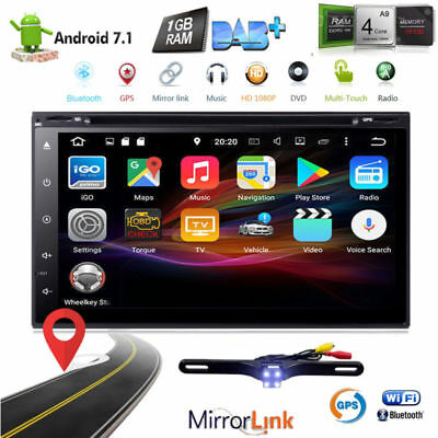 "Android 7.1 7"" 2Din InDash Car DVD Radio Stereo Player WiFi 4G GPS Tablet+CAMERA"