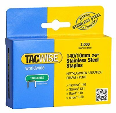 Tacwise 14010mm Stainless Steel Staples Box of 2000