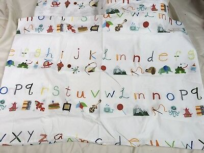 Pottery Barn Kids Alphabet C Sheet Set with 1 pillowcase Twin Size