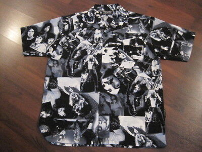Led Zeppelin DRAGONFLY button shirt collage Robert Plant Jimmy Page EC Large