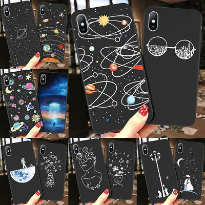 Planet Space Star Universe Phone Soft Case Cover For iPhone XS XR Max 8 6 7 5 SE