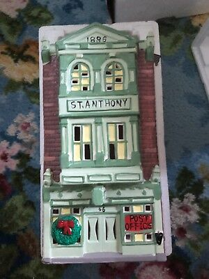 Dept 56  Snow Village's St. Anthony Hotel & Post Office. RETIRED