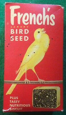 Vintage Frenchs Canary Bird Seed Advertising Box RT French Co Rochester NY