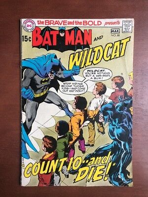 The Brave and the Bold #88 (1970) 4.5 VG DC Key Issue Comic Batman Wildcats