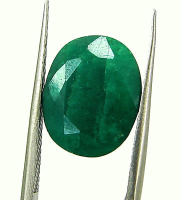 5.78 Ct Certified Natural Green Emerald Loose Oval Cut Gemstone Stone - 131244