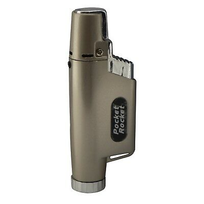 Pack of 5 Pocket Rocket Single Jet Flame Butane Cigarette Cigar Torch Lighter