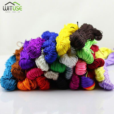 1mm/1.5mm Chinese Knotting Cord Nylon Macrame Bracelet Beading Thread Satin 226