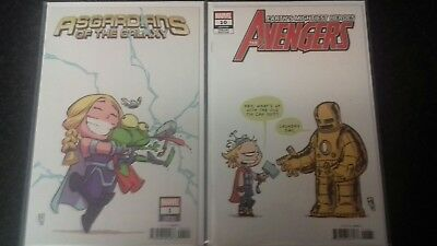 Avengers 10, Asgardians Of The Galaxy 1 Skottie Young Variant
