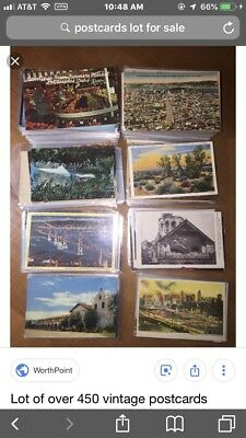 LOT of 60+ Vintage Unused Postcards of Travel Leisure People