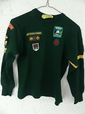 Boy Scouts of Canada Vintage Green Wolf Cub Jersey