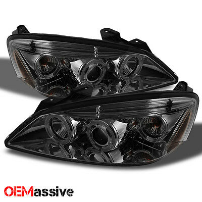 Fits 05-10 Pontiac G6 Smoke Dual Halo Projector Headlights Front Lamps