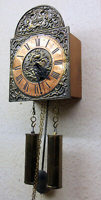 *Old Little Wall Clock Regulator Chime Clock*