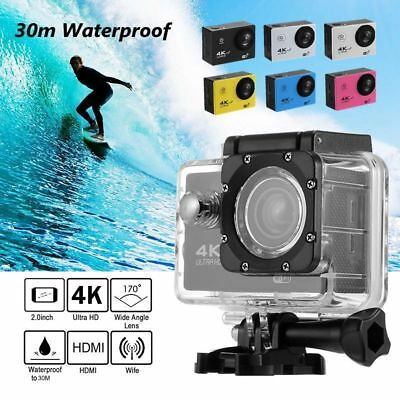 F60R 4K WIFI Action Camera 1080P HD 16MP 170° Angle 30m Underwater Helmet Cam DV