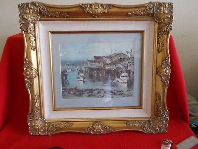 """Celebrated Artist, Don Davey, From 1969, """"fisherman's Wharf"""" Lithograph, Gorgeou"""
