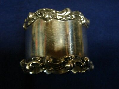 Towle Sterling Silver Napkin Ring #8740 Scroll Edge No Engraving