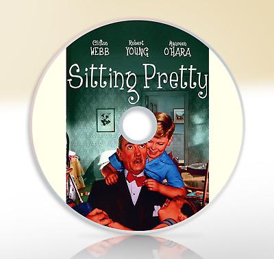 Sitting Pretty (1948) DVD Classic Comedy Movie / Film Robert Young Clifton Webb
