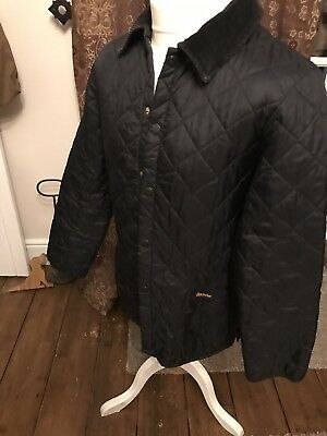 Barbour Heritage Mens Liddesdale Quilted Jacket - Black, size Small