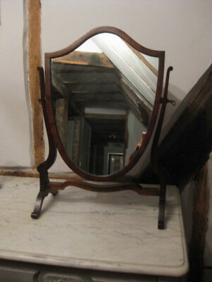 Original Antique Vintage Swing Sheraton Dressing Mirror Oak & Mahogany Vgc