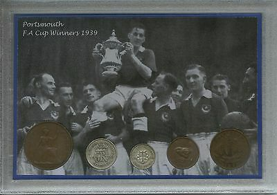Portsmouth Play Up Pompey Chimes Vintage FA Cup Final Winners Coin Gift Set 1939