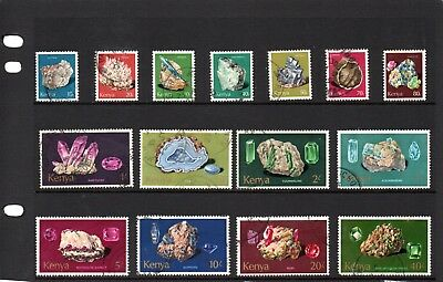 Kenya 1977 minerals set SG 107-21 good to fu.